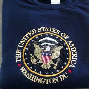 Navy Sweatshirt United States of America